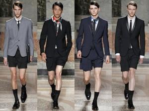 Traje con pantalón corto ¿tendencia?