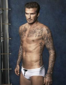 David Beckham presenta colección de bañadores para H&M