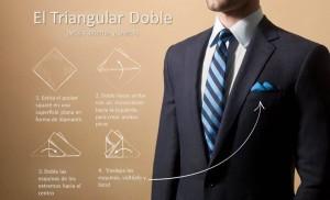 Cómo doblar tu pañuelo de bolsillo