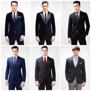 hombres luciendo blazers de Mango