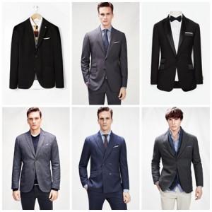 hombres luciendo blazers formales de mango