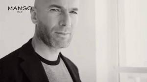 Zidane posando para Mango