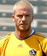 David Beckham con pelo rapado