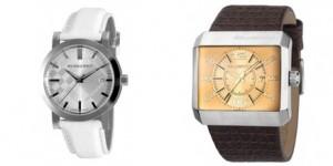 relojes modernos para hombre de la marca Custo y Burberry