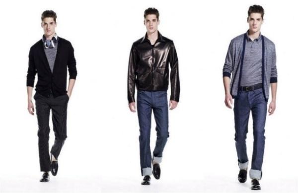 hombres jóvenes vistiendo en tres estilos