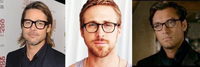 3 famosos luciendo gafas graduadas para hombre