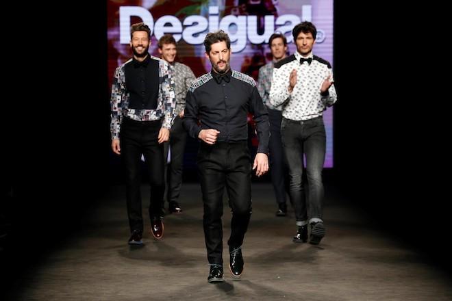 fin desfile Desigual en 080 Barcelona Fashion