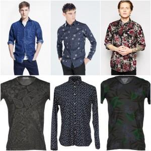 camisas dark floral hombre