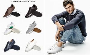 modelo mostrando deportivas para hombre de H&M