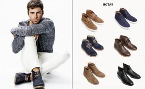 modelo mostrando botas para hombre de H&M