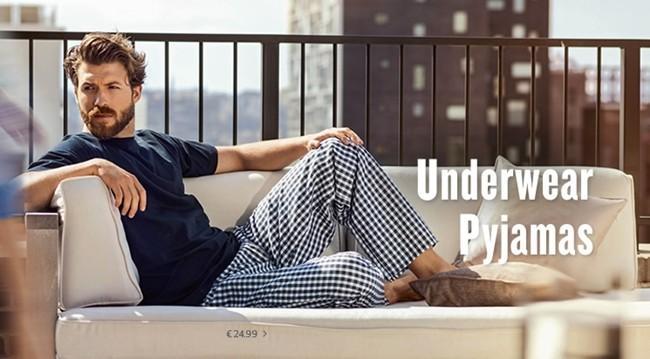 anuncio de los pijama pants de tom tailor
