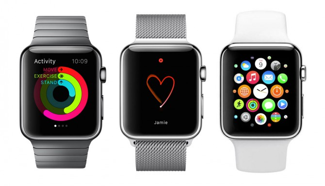 Diferentes modelos de Apple Watch