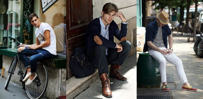 calzado de hombre de diferentes estilos