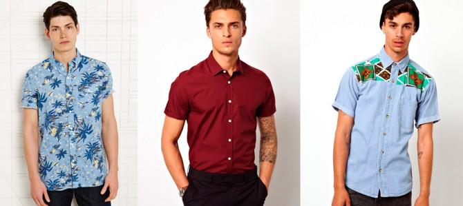 camisas de manga corta hombre