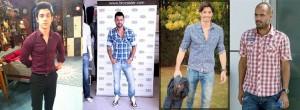 famosos con diferentes cortes de camisa