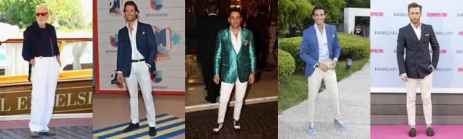 famosos con pantalón blanco