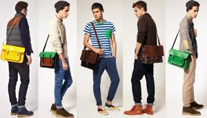 diferentes tipos de bolso masculino de Asos