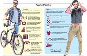 infografía yuccies&hipsters