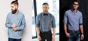 hombres con camisa de cambray