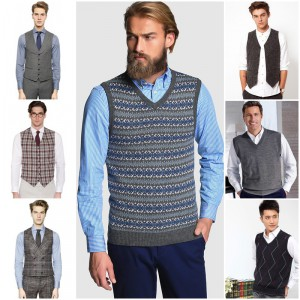 chalecos de lana de hombre