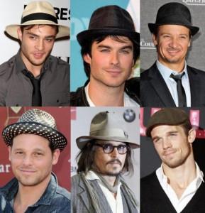 famosos con sombreros para hombre