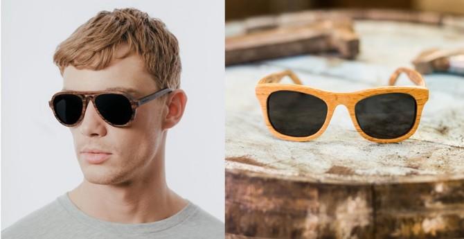 Gafas de madera de barrica de whisky