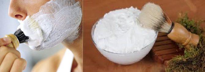 Crema de afeitar o jabón